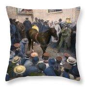 Clever Hans, 1904 Throw Pillow
