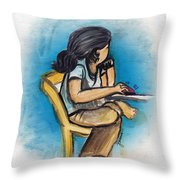 clickGal Throw Pillow
