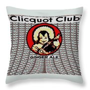 Clicquot Club Throw Pillow