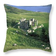 Clifden Castle, Co Galway, Ireland 19th Throw Pillow