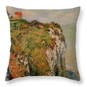 Cliff At Dieppe Throw Pillow