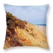 Cliff At Marconi Beach Throw Pillow