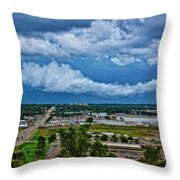Cliff Avenue Storm Clouds Throw Pillow