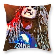 Cliff Burton Portrait Throw Pillow