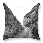 Cliff Cleavage Throw Pillow