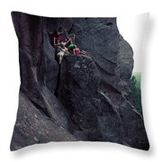 Cliff Dancers Throw Pillow