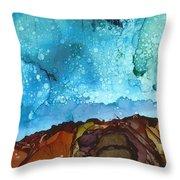 Cliff Diver Throw Pillow