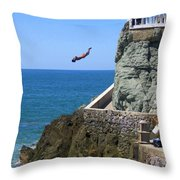 Cliff Divers Throw Pillow