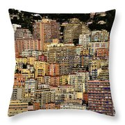 Cliff Dwellers Of Monte Carlo Throw Pillow