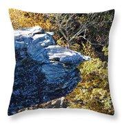 Cliff Face Throw Pillow
