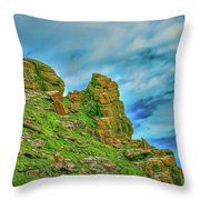 Cliff #h0 Throw Pillow