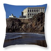 Cliff House San Francisco Throw Pillow by Garry Gay