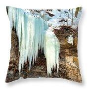 Cliff Ice Throw Pillow