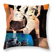 Cliff Master Bed 1 - Digital Version Throw Pillow
