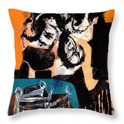 Cliff Master Bed 3 - Digital Version Throw Pillow