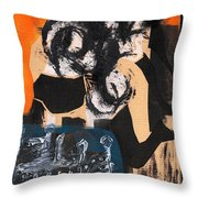 Cliff Master Bed 4 Throw Pillow