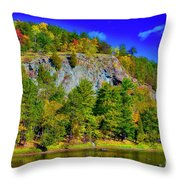 Cliff Of Color Throw Pillow