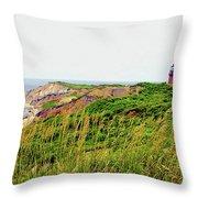 Cliff Off The Shores Of Martha Vineyard Throw Pillow