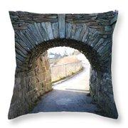 Cliff Walk Bridge Throw Pillow