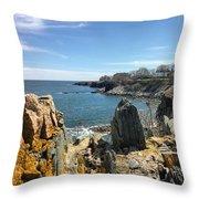 Cliff Walk View Throw Pillow