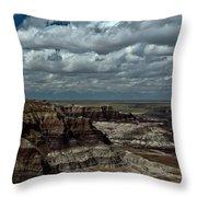 Cliffs And Clouds Throw Pillow