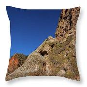 Cliffs At Bandelier Throw Pillow