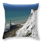 Cliffs At Beachy Head East Sussex Throw Pillow