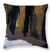 Cliffs At Blacklock Point Throw Pillow
