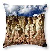 Cliffs At Echo Amphitheater Throw Pillow