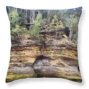 Cliffs At The Dells Throw Pillow