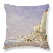 Cliffs Near Dieppe Throw Pillow