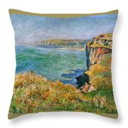 Cliffs Near Pourville Throw Pillow