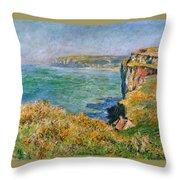 Cliffs Near Pourville Throw Pillow