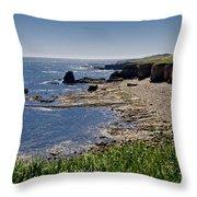 Cliffs Near Souter Lighthouse. Throw Pillow