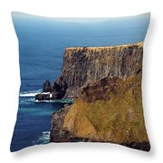 Cliffs Of Moher Ireland View Of Aill Na Searrach Throw Pillow