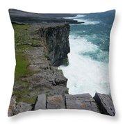 Cliffs Of The Aran Islands 5 Throw Pillow
