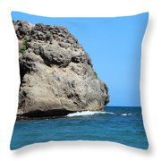 Cliffs On The Beach Dominican Republic  Throw Pillow