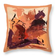 Cliffside Throw Pillow