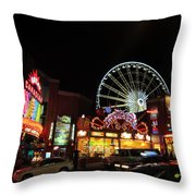 Clifton Hill At Night Throw Pillow