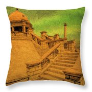 Clifton Monument At Jehangir Kothari Parade Throw Pillow