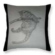 Climber Cat Throw Pillow