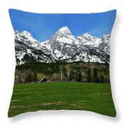 Climbers Ranch In Spring Throw Pillow