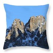 Climbers Sunlit Challenge Throw Pillow