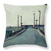 Climbing A Ramp On The Highway Throw Pillow