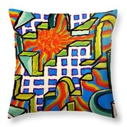 Climbing Abstractly  Throw Pillow