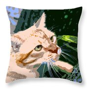 Climbing Cat Throw Pillow