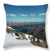 Climbing Greys Peak Throw Pillow