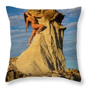 Climbing Throw Pillow