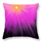 Climbing Over The Mountain Throw Pillow