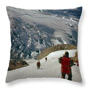 T-204805-climbing Party Mt. Rainier  Throw Pillow